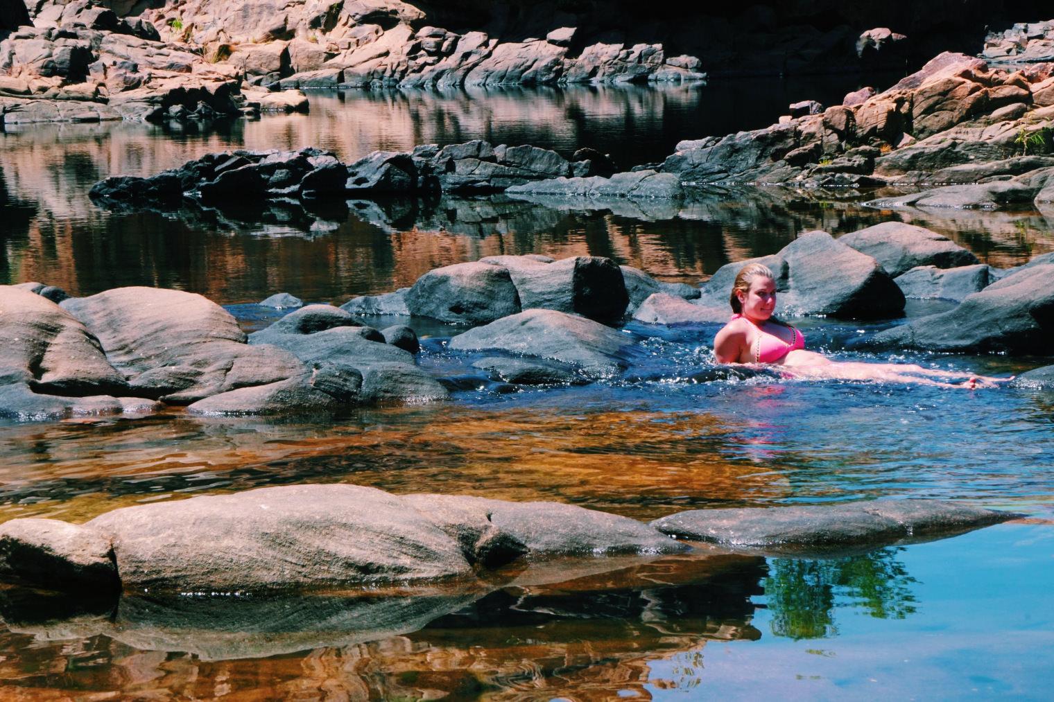 澳洲北領地(2)|在尼特米魯克國家公園Edith Falls享受屬於一人的瀑布