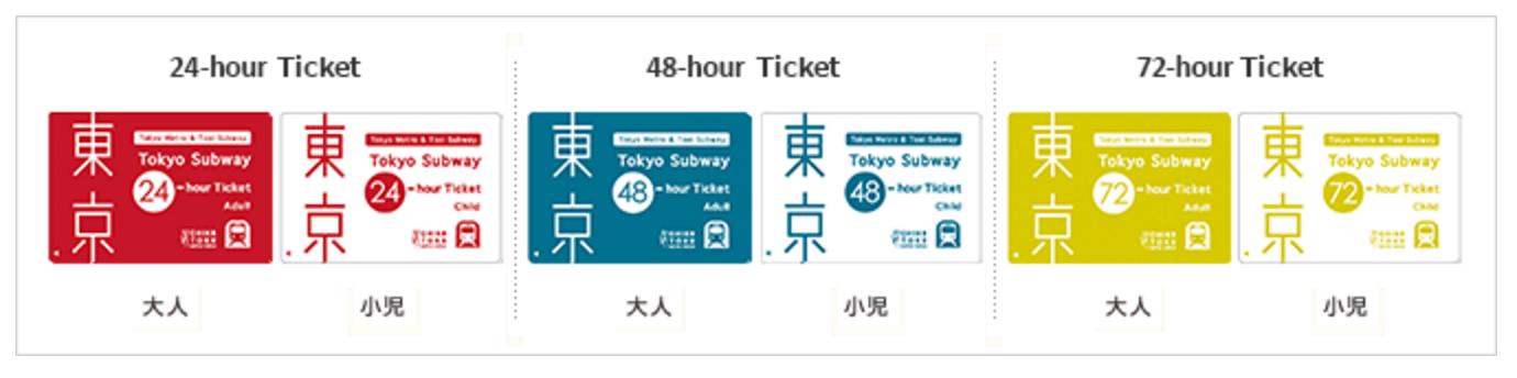東京交通|必買、超划算的東京地鐵24Hour~72Hour券(可在台灣先預訂)