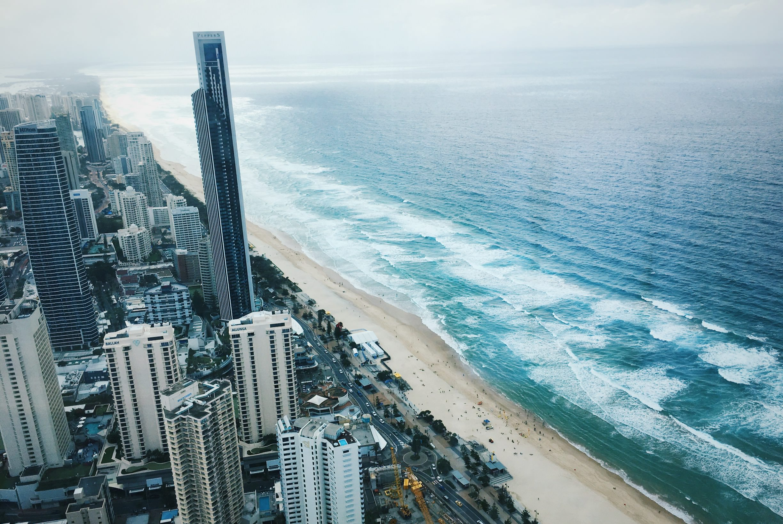 澳洲黃金海岸旅行|Q1大廈Skypoint觀景台,高級空間一覽黃金海岸美景